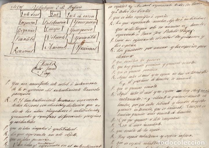 Manuscritos antiguos: MANUSCRITO FILOSOFICO LECCIONES DEL ARTE DE PENSAR. SIGLO XIX. SIN AUTOR - Foto 4 - 276992988