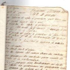 Manuscritos antiguos: MANUSCRITO FILOSOFICO LECCIONES DEL ARTE DE PENSAR. SIGLO XIX. SIN AUTOR. Lote 276992988