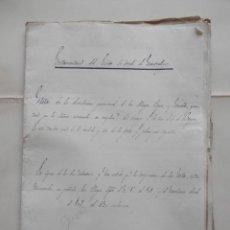Manuscritos antiguos: MANUSCRITOS AÑO 1847-49 CONDE MONTEALEGRE EXTENSA PARTICIÓN HERENCIA RELACIÓN JOYAS Y TODOS BIENES. Lote 277163568