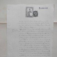 Manuscrits anciens: MANUSCRITOS AÑO 1876 FISCAL 11º Y SOCIEDAD DEL TIMBRE BALEARES RARO, CERTIFICADO DEFUNCIÓN. Lote 277163853