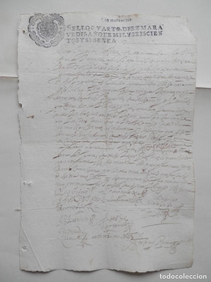 MANUSCRITO AÑO 1660 FISCALES 4ºS ADANERO ÁVILA CONCEJO DE LA MESTA ACUERDO (Coleccionismo - Documentos - Manuscritos)