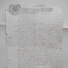 Manuscritos antiguos: MANUSCRITO AÑO 1660 FISCALES 4ºS ADANERO ÁVILA CONCEJO DE LA MESTA ACUERDO. Lote 277165598