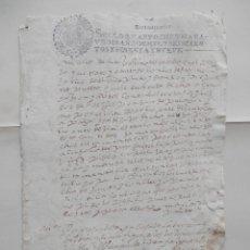 Manuscritos antiguos: MANUSCRITO AÑO 1669 FISCALES 4ºS TAMARIT VALLADOLID PLEITO TESTAMENTARÍA. Lote 277165828