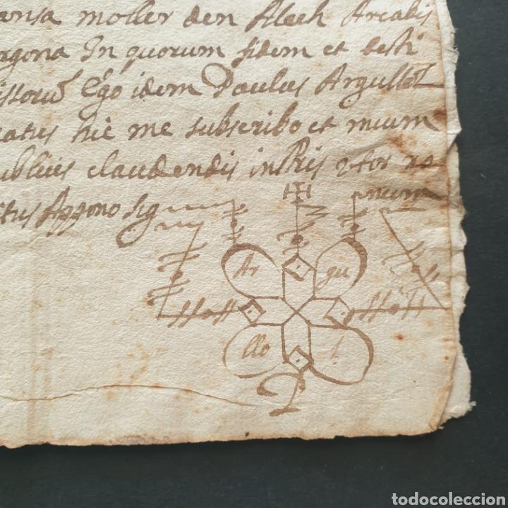 Manuscritos antiguos: Manuscrito latín y catalan 1642 Siglo XVII Bautizó Párroco Iglesia Villa Granyena Bisbat de Solsona - Foto 2 - 277597228
