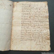 Manuscritos antiguos: MANUSCRITO LATÍN Y CATALAN 1642 SIGLO XVII BAUTIZÓ PÁRROCO IGLESIA VILLA GRANYENA BISBAT DE SOLSONA. Lote 277597228
