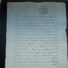 Manuscritos antiguos: MANUSCRITO AÑO 1848 PUERTO STA MARÍA CÁDIZ FIRMA NOTARIAL LUJO - PODER FISCAL 2º. Lote 278504278