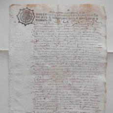 Manuscritos antiguos: MANUSCRITO AÑ0 1639 FISCAL 4º LUJO INDESCIFRADO PALEOGRAFÍA. Lote 278587438