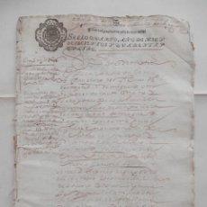 Manuscritos antiguos: MANUSCRITO AÑ0 1644 MOGUER Y PALOS HUELVA FISCALES OFICIOS RARO Y LUJO CONVENTO SANTA CLARA 23 PÁGS. Lote 278589013
