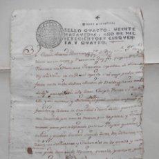 Manuscritos antiguos: MANUSCRITO AÑ0 1754 FISCAL 4º LUJO SAN MARTÍN VALDEIGLESIAS MADRID PODER PARA COBRAR DEUDA. Lote 278678573