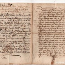 Manuscrits anciens: DOCUMENTO DE VENTA DE UNA HUERTA EN ORDUÑA. AÑO 1502.. Lote 278938993
