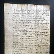Manuscrits anciens: ALCAÑIZ AÑO 1685 / IGLESIA COLEGIAL / PERMUTA PARA CONSTRUIR UNA CAPILLA / SANTA ANA - SAN ANDRÉS. Lote 278942388