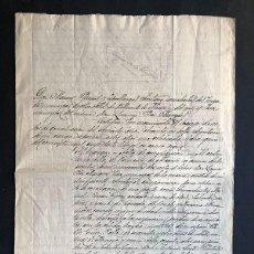 Manuscritos antiguos: BELMONTE DE SAN JOSÉ 1902 / CERTIFICADO JUZGADO MUNICIPAL / DEMANDA ENTRE VECINOS / TERUEL. Lote 278943913