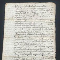 Manuscritos antiguos: MANUSCRITO EN LATÍN 1654 DELMAS DE ISIDRO JANER DE LA CASA FRAER. BISBAL DEL PENEDÈS VER FOTOS.. Lote 279361483