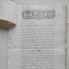 Manuscritos antiguos: MANUSCRITO AÑO 1835 FISCAL 3º MADRID PODER NOTARIAL Y SELLO PEGADO COLEGIO NOTARIAL RARO. Lote 279587263