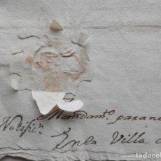 Manuscritos antiguos: SELLO LACRE SAN MARTÍN DE VALDEIGLESIAS MADRID MANUSCRITO AÑO 1754 PLEITO DEUDAS. Lote 279588678