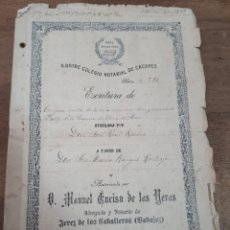 Manuscritos antiguos: ESCRITURAS DE OLIVA DE JEREZ. BADAJOZ 1921. Lote 280933033