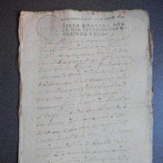 Manuscritos antiguos: MANUSCRITO AÑO 1736 FISCALES OFICIOS FUENTECEN BURGOS VENTA 10 PÁGS. Lote 281067553