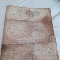 Manuscritos antiguos: CARTA MANUSCRITA FECHADA EN CANDAS ASTURIAS 1834,EN EL REINADO DE ISABEL II.SELLO EN EL MEMBRETE. Lote 281800043