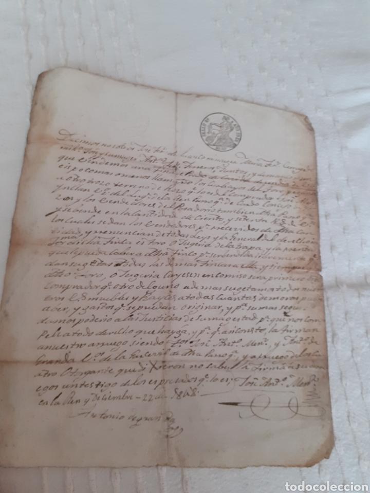 Manuscritos antiguos: Carta manuscrita venta de finca en Luanco concejo de Gozon Asturias ,fechada el 22del 12 de 1848. - Foto 2 - 281801278
