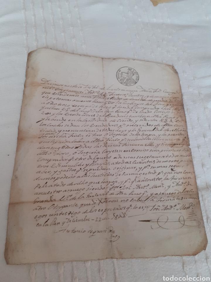 CARTA MANUSCRITA VENTA DE FINCA EN LUANCO CONCEJO DE GOZON ASTURIAS ,FECHADA EL 22DEL 12 DE 1848. (Coleccionismo - Documentos - Manuscritos)