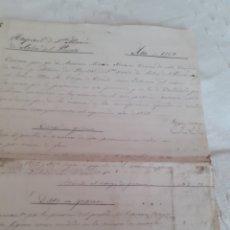Manuscritos antiguos: HOJAS DE ESTADO DE CUENTAS DEL HOSPITAL DE SANTA MARIA DE ARBAS DEL PUERTO ,AÑO1868.LEER DESCRIPCIÓN. Lote 281804138