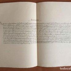 Manuscritos antiguos: FACSÍMIL: BREVE PAPA SIXTO V 1589 (INDULGENCIA JUBILEO SANTIAGO COMPOSTELA)JOYAS BIBLIOGRÁFICAS 1965. Lote 285149503