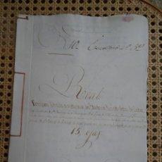 Manuscrits anciens: CORUÑA, S. VICENTE ELVIÑA, BRAÑA DOS LAGOS, POSESIÓN COTTON CASTRO, CONVENTO SANTO DOMINGO, 1775. Lote 286189313