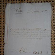 Manuscrits anciens: CORUÑA, AJUSTE DE PLEITO ENTRE MONASTERIO SAN FRANCISCO Y COTÓN SOBRE MISAS, 1742, 26 PAGS, SELLO. Lote 286195508