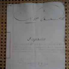 Manuscrits anciens: CORUÑA, DESPACHO DEL CORREGIDOR POR TALA DE FRAGA EN FEANS, 1786, 14 PAGS. Lote 286195933