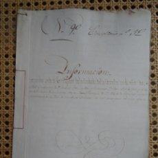 Manuscrits anciens: CORUÑA, INFORMACIÓN SOBRE AFORAMIENTO DE FEANS, 1807, 10 PAGS, SELLO. Lote 286196393
