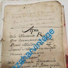 Manuscritos antigos: 1444, MANUSCRITO APEO DE HEREDADES EN LA COLACION DE SAN PEDRO GAILLOS, SEPULVEDA,SEGOVIA,56 PAGINAS. Lote 286768193