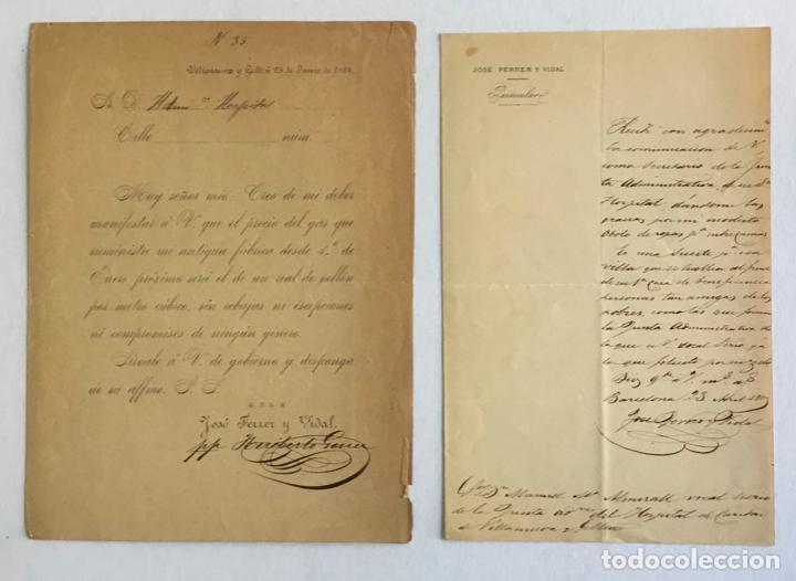 Manuscritos antiguos: [DOCUMENTACIÓN VARIA SOBRE VILANOVA I LA GELTRÚ]. - [MANUSCRITO.] 1866-1936 - Foto 4 - 286799168