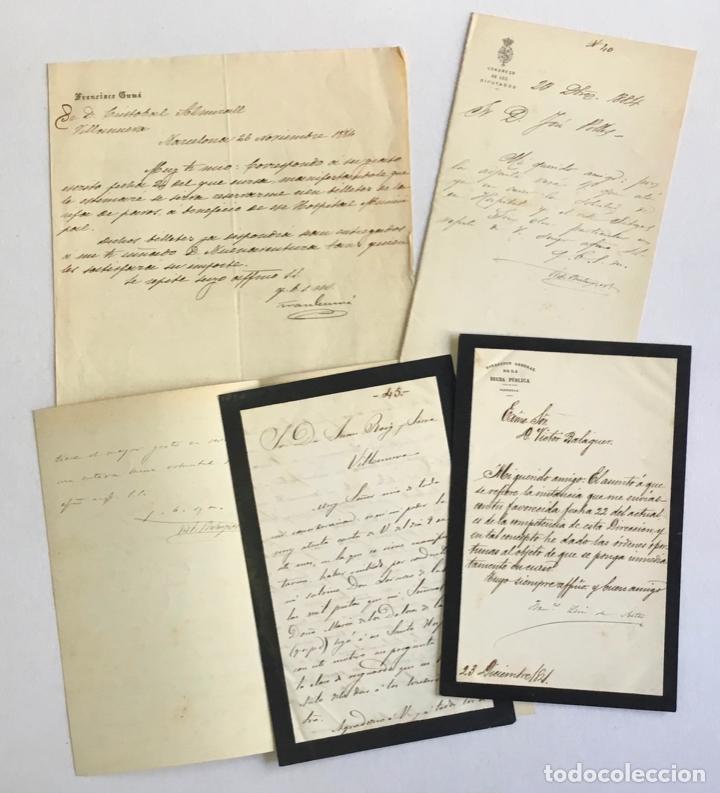 Manuscritos antiguos: [DOCUMENTACIÓN VARIA SOBRE VILANOVA I LA GELTRÚ]. - [MANUSCRITO.] 1866-1936 - Foto 6 - 286799168