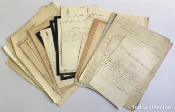 [DOCUMENTACIÓN VARIA SOBRE VILANOVA I LA GELTRÚ]. - [MANUSCRITO.] 1866-1936 (Coleccionismo - Documentos - Manuscritos)