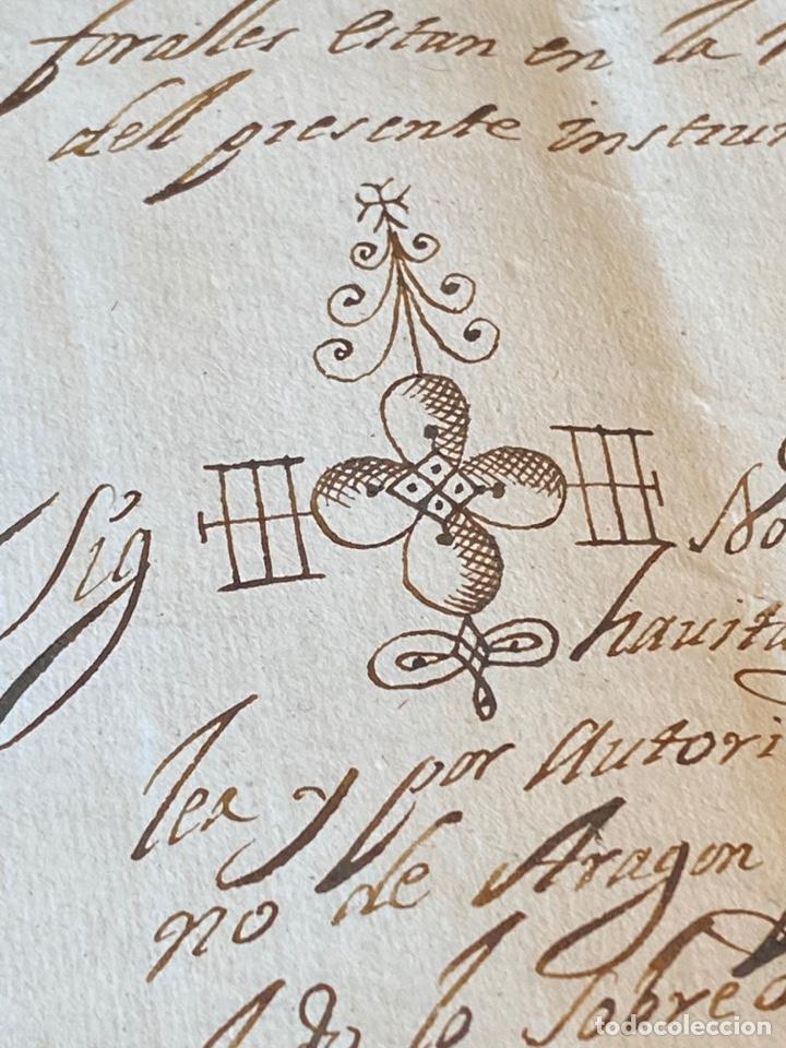 BOLEA, HUESCA.1704. TESTAMENTO DE DON LORENZO SALVADOR. BELLA FIRMA NOTARIAL (Coleccionismo - Documentos - Manuscritos)