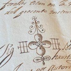 Manuscritos antiguos: BOLEA, HUESCA.1704. TESTAMENTO DE DON LORENZO SALVADOR. BELLA FIRMA NOTARIAL. Lote 286960068