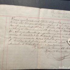 Manuscritos antiguos: STA. COLOMA DE FARNES / RIUDARENES - 1876-APODERADO DEL EXMO. SOR. DUQUE DE HIJAR - NARCISO MASOLLER. Lote 287864538