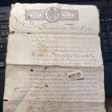 Manuscritos antiguos: STA. COLOMA DE FARNES / RIUDARENAS - 1822 VENTA DE UNA PESSA DE TERRA DE VIÑA - 4 PAG.. Lote 287865208