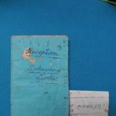 Manuscritos antiguos: CUADERNILLO MANUSCRITO - FÓRMULAS DIVERSAS PARA LAS RESTAURACIÓN Y REPARACIÓN DE MUEBLES. Lote 287890738