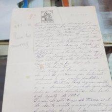 Manuscritos antiguos: ANTIGUO DOCUMENTO DE VENTA TIERRAS EL PUNTARRON LORCA MURCIA 1921. Lote 287985593