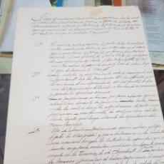 Manuscritos antiguos: PLIEGO DE CONDICIONES AYUNTAMIENTO DE LORCA MURCIA APROVECHAMIENTO DE PASTOS EN MONTES 1901. Lote 287987723