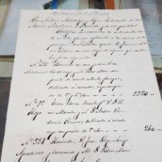Manuscritos antiguos: AYUNTAMIENTO DE LORCA MURCIA HOJA DE RIQUEZA DE PROPIEDADES DE FRANCISCO A. VILCHES S XIX. Lote 287989728