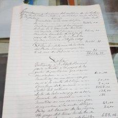 Manuscritos antiguos: LIQUIDACION DEL METALICO TESTAMENTARIA FRANCISCO A. VILCHES LORCA MURCIA 1889 S XIX. Lote 287990218