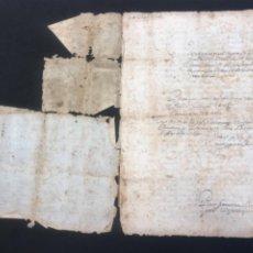 Manuscritos antiguos: MANUSCRITO DEL AÑO 1664 VENTA TIERRA. VILAFRANCA DEL PENEDES, BISBAL DEL PENEDES Y PACHS. VER FOTOS.. Lote 287995863