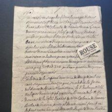 Manuscritos antiguos: SANTA COLOMA DE FARNES - ANTIGUO DOCUMENTO MANUSCRITO 1753 - 4 PAG.. Lote 288014138