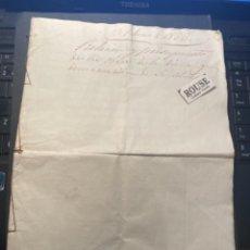 Manuscritos antiguos: SANTA COLOMA DE FARNES / RIUDARENAS - 1853 ANTIGUO DOCUMENTO MANUSCRITO RELACION Y PRESUPUESTO DE LA. Lote 288017248