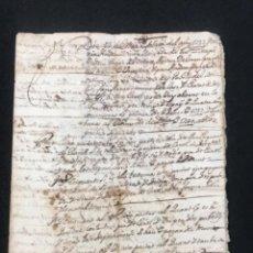 Manuscritos antiguos: MANUSCRITO DE LA BISBAL DEL PENEDES 1737 PACTO DE PAGOS ENTRE PAYESES.. Lote 288130528