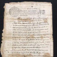 Manuscritos antiguos: MANUSCRITO LEGAJO 1770 CREACIÓN CENSAL SUELDOS LA BISBAL DEL PENEDÈS, EL MONTMELL I VALLS.. Lote 288209328