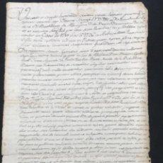Manuscritos antiguos: MANUSCRITO DE 1770 CREACIÓN CENSAL LA BISBAL DEL PENEDÈS RECTOR DE ALBINYANA TARRAGONA.. Lote 288210968