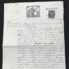 Manuscritos antiguos: MANUSCRITO 1879 LA BISBAL DEL PENEDÈS FIRMA DEL GOBERNADOR CIVIL DE TARRAGONA.. Lote 288310713